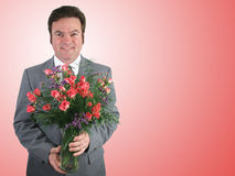 Marido romântico - cor-de-rosa imagens de stock royalty free