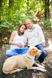 Marido y esposa embarazada Imagen de archivo libre de regalías