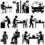 Marido y esposa/novio y novia en amor FIGURA DEL PALILLO Ilustración del Vector