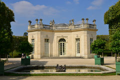 Marie Antoinette estate in the parc of Versailles Palace Stock Photo