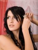 Mariée assez jeune de brunette Images stock