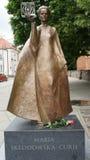 Marie Curie monument arkivbild