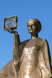Marie Curie. Monument to Marie Sklodowska-Curie, a Polish-French scientist, discoverer of polonium and radium, two-time Nobel laureate - Warsaw, Poland Stock Image
