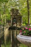 Marie de Medici Fountain, Paris stock image