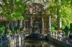 Marie De Medicis Fountain in Luxembourg garden, Paris, France royalty free stock photos