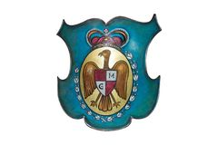 Queen Marie of Romania coat of arms Stock Photography