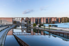 The Marie-Elisabeth-Lueders-Haus and skybridge in Berlin's gover Royalty Free Stock Images