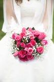 Mariée et bouquet Image libre de droits