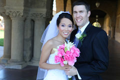 Mariée et marié au mariage Photos stock