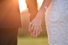 Mariée et marié leur jour du mariage Photographie stock