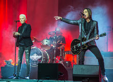 Marie Fredriksson and Per Gessle sing and play - concert Roxette Royalty Free Stock Image