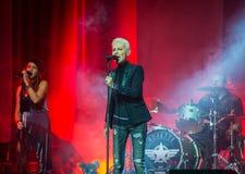 Marie Fredriksson (Roxette) sings - live in Khabarovsk, Russia Stock Photo