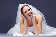 Mariée gaie Photographie stock