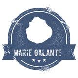 Marie Galante logotecken Royaltyfria Bilder