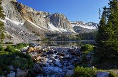 Marie jezioro, Śnieżny pasmo, Wyoming obrazy royalty free