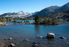 Marie Lake op John Muir Trail Royalty-vrije Stock Foto