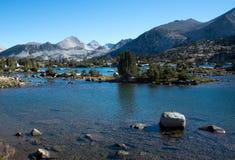 Marie Lake på John Muir Trail royaltyfri foto