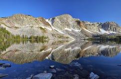 Marie Lake, Snowy-Strecke, Wyoming lizenzfreie stockfotos