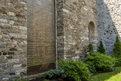 Marie-Marguerite d`Youville stone wall Royalty Free Stock Photo