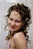 Mariée, matin avant la cérémonie Photo stock