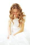 Mariée riante Photos stock