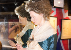 Marie Tussaud and her reflexion in the mirror Stock Images