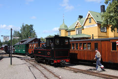 Mariefred old railway station, Sweden royalty free stock images