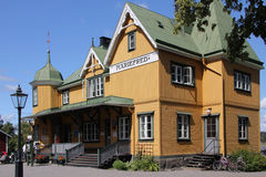 Mariefred old railway station, Sweden stock photos