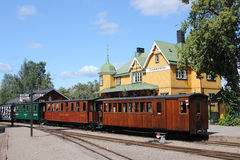 Mariefred old railway station, Sweden Stock Photography
