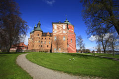 Mariefred,Sweden, the Gripsholms castle. Mariefred,Sweden, the Gripsholms castleand park stock photography