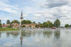 Mariefred in Sweden in summer. Mariefred in Sweden by the lake Malaren in summer stock photo