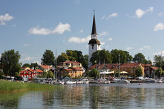 Mariefred town, Sweden Royalty Free Stock Photos