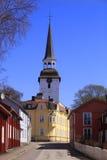 Mariefred, Zweden, het dorp stock fotografie