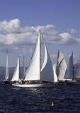 Mariella. Classic sailing yacht Mariella cruising in the pack for the start Royalty Free Stock Photos