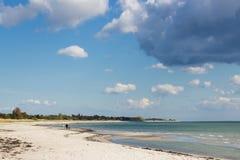 Marielyst strand i Danmark Royaltyfria Foton