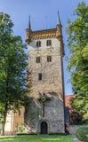 Marien教会的塔在瓦伦多尔夫 免版税库存图片