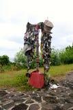 Marien gedenkteken op Onderstel Suribachi Iwo Jima, Japan stock foto