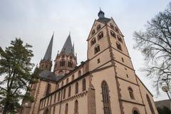 marien kyrkan gelnhausen Tyskland Arkivfoto