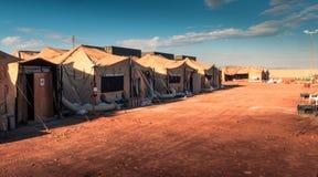 Marien militair kamp stock afbeeldingen