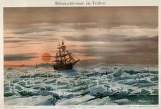 1894 MARIEN NOORDPOOLijs VAREND SCHIP Royalty-vrije Stock Afbeelding