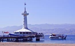 Marien onderwaterwaarnemingscentrum, Eilat, Israël Stock Foto