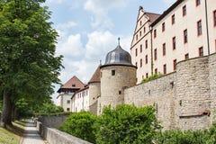 Marienberg castle. The Marienberg Castle (de: Festung Marienberg) located in Wurzburg, Bavaria Royalty Free Stock Image