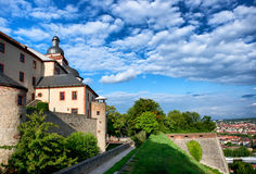 Marienberg castle in Wurzburg, Germany Stock Images