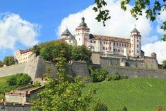 Marienberg fästning i Wurzburg Royaltyfria Foton