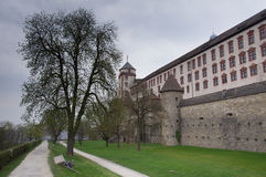 Marienberg Fortress and Trees Stock Photography