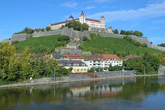 Marienberg Fortress in Wurzburg Royalty Free Stock Image