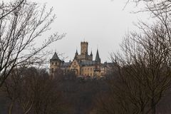 Marienburg castle hanover germany view trees winter colors royalty free stock images