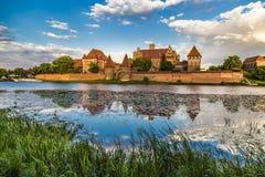 Marienburg Roszuje - siedzibę mistrzowie Teutoński Lub obraz royalty free