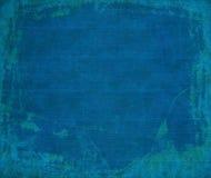 Mariene blauwe grunge geribbelde houten achtergrond Stock Fotografie