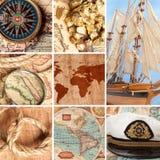 Mariene collage Royalty-vrije Stock Afbeelding